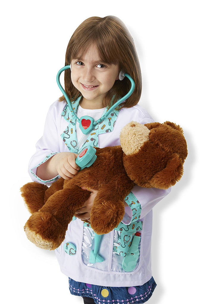 Melissa and Doug Doctor Role Play Costume Set 3 to 6 years old [Home Decor]- Olde Church Emporium
