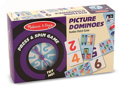 Melissa & Doug Press & Spin Game Picture Dominoes - Olde Church Emporium