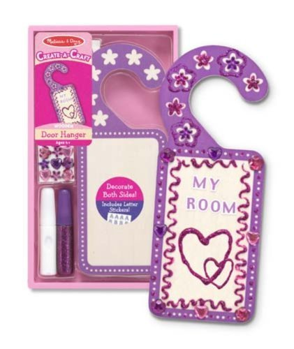 Melissa & Doug Create-A-Craft Wooden Door Hanger Kit Color: Purple [Home Decor]- Olde Church Emporium