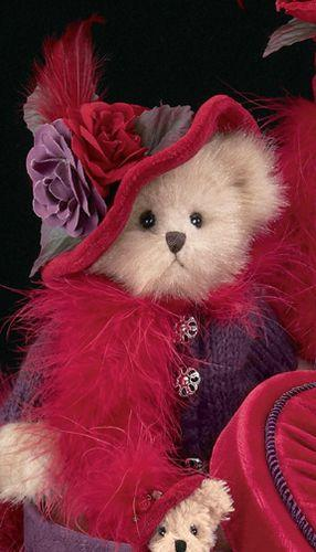 Bearington Bear Red Hat Society Plush DUCHESS of PLUME 12 inches Collectible Retired - Olde Church Emporium