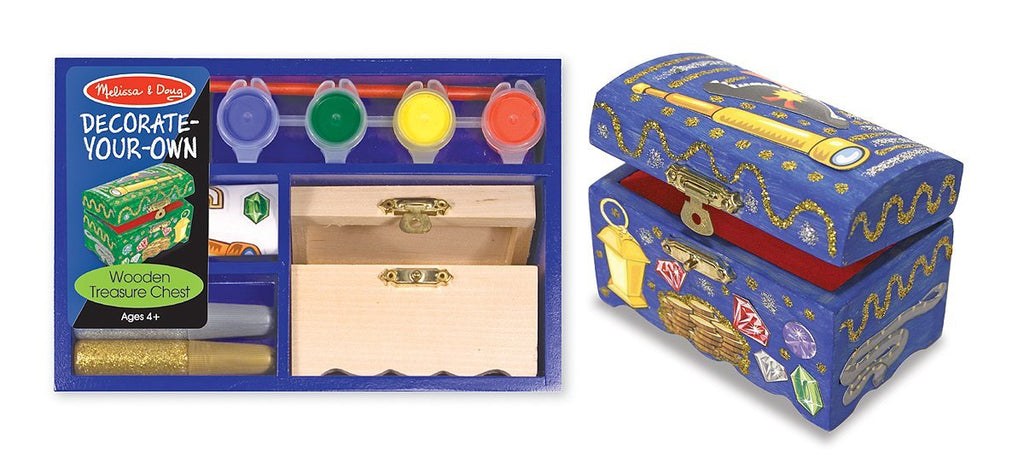 Melissa & Doug  - Decorate Your Own Wooden Treasure Pirate Chest [Home Decor]- Olde Church Emporium