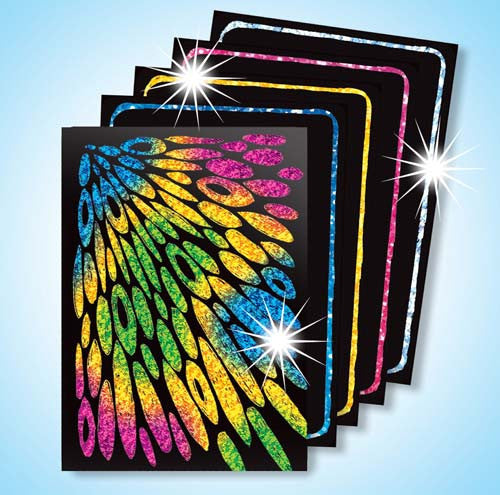 Scratch Art® Classroom Packs - Scratch Art Scratch & Sparkle Artist Trading Cards Assorted Holographic Colors