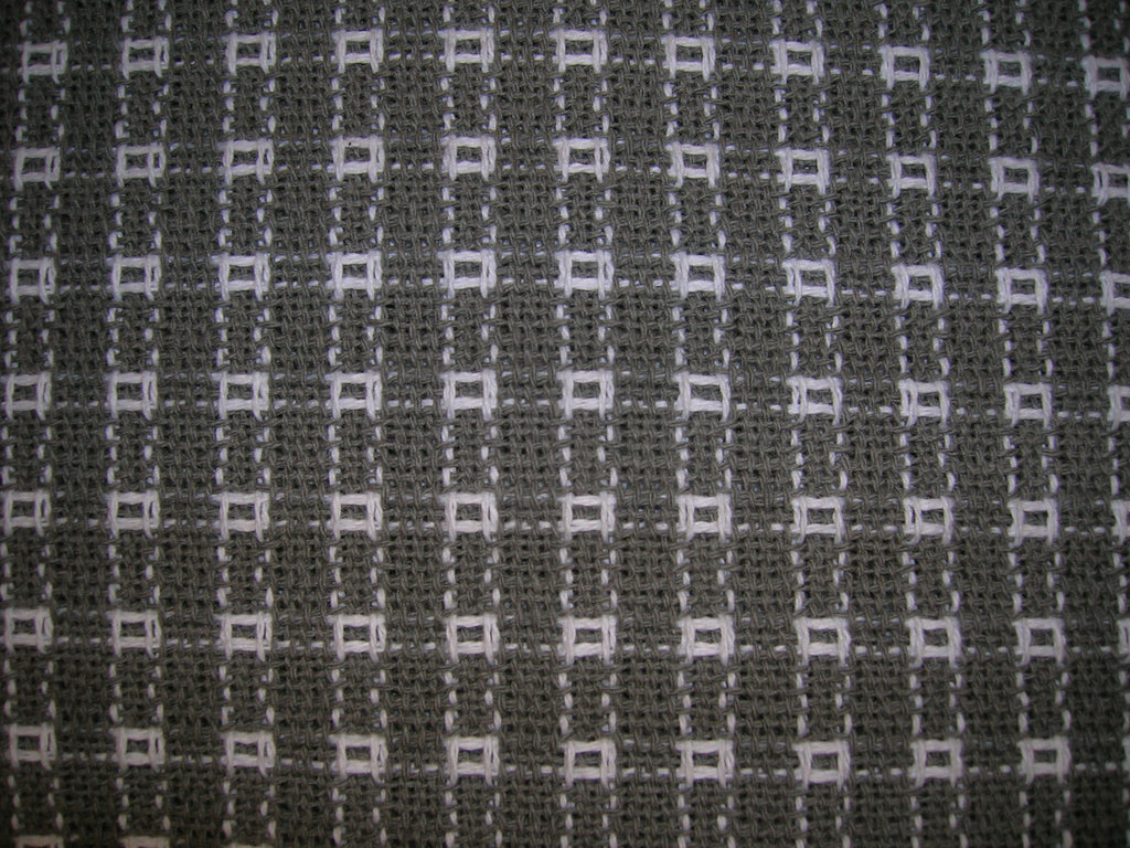 Homespun Tablecloth -  Gray and White tablecloths, napkins, runners, placemats