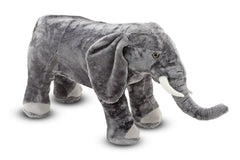 Melissa & Doug  - Giant Elephant Lifelike Stuffed Animal (over 3 feet long) [Home Decor]- Olde Church Emporium