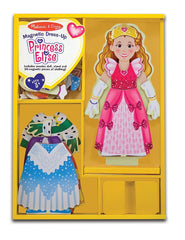 Melissa & Doug - Deluxe Princess Elise Magnetic Wooden Dress-Up Doll Play Set (24 pcs) - Olde Church Emporium