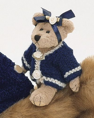 "Bearington -Emily Bearkins Miniature Plush Bear  4.5"" Inches and Retired - Olde Church Emporium"