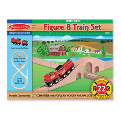 Melissa & Doug Wooden Figure 8 Train Set