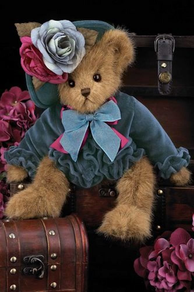 "Bearington- Fall Holiday Bear ""Fancy Fedora"" - 14 Inches and Retired - Olde Church Emporium"