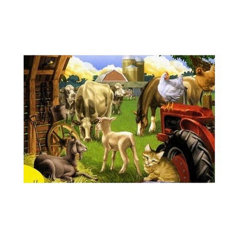 Melissa & Doug - 24 Piece Farm Friends Floor Puzzle- 2 x 3 Feet