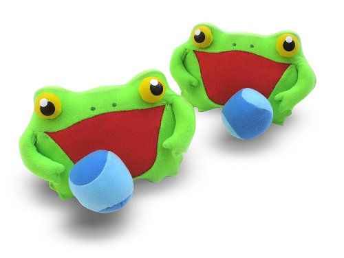 Melissa & Doug - Sunny Patch Froggy Toss and Grip Catching Game With 2 Balls [Home Decor]- Olde Church Emporium
