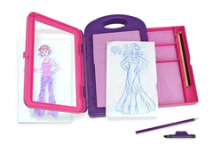 Melissa & Doug - Fashion Design Art Activity Kit  9 Double-Sided Rubbing Plates, 4 Pencils, Crayon - Olde Church Emporium