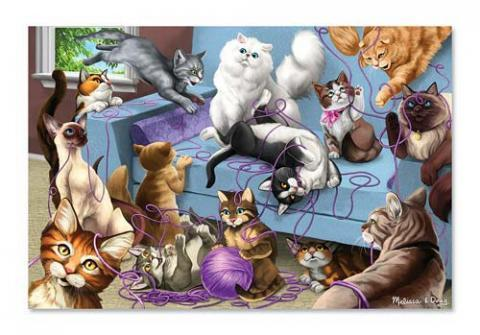 Melissa and Doug Feline Fun 200 Piece Jigsaw Puzzle Ages 8+ - Olde Church Emporium