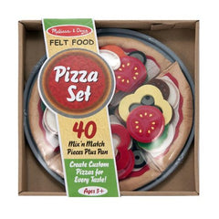 Melissa & Doug - Felt Food Mix 'n Match Pizza Pretend Play Food Set (40 pcs) - Olde Church Emporium