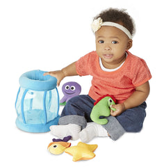 Melissa & Doug - Deluxe Fishbowl Fill and Spill Soft Baby Toy Ages 6 Months + - Olde Church Emporium
