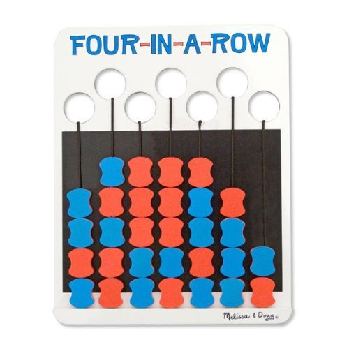 Melissa & Doug -Four-in-a-Row Wooden Travel Game Flip to Win [Home Decor]- Olde Church Emporium