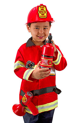 Melissa and Doug Fire Chief Role Play Costume Set 3 to 6 years old [Home Decor]- Olde Church Emporium