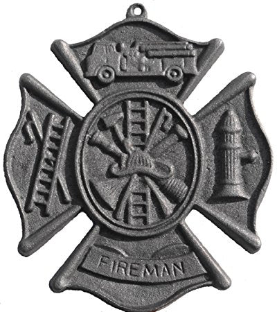 Cast Iron  -  Decorative Reproduction Fireman's Plaque - Olde Church Emporium