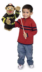 Fireman Puppet 3+ YEARS- Melissa and Doug [Home Decor]- Olde Church Emporium