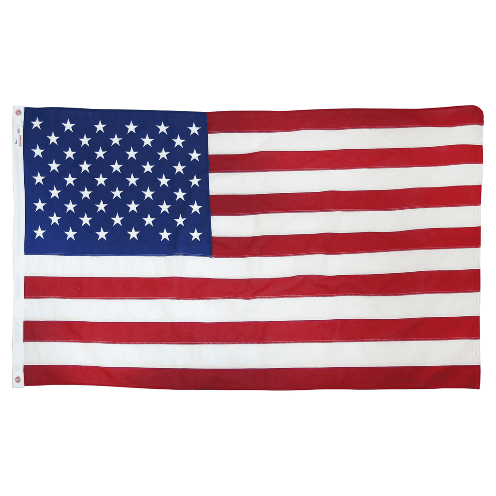 Valley Forge Best American Flag Cotton 3' x 5' 100% Made in USA Embroidered Stars Heavy-Duty Brass Grommets - Olde Church Emporium