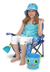 Melissa & Doug - Sunny Patch Flex Octopus Folding Beach Chair for Kids Other Styles Available [Home Decor]- Olde Church Emporium