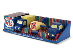 Melissa & Doug - Deluxe Wooden First Vehicles Set With Truck, Car, and Airplane - Olde Church Emporium