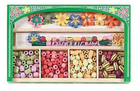 Melissa & Doug Flower Power Wooden Bead Make Your Own Jewelry Set