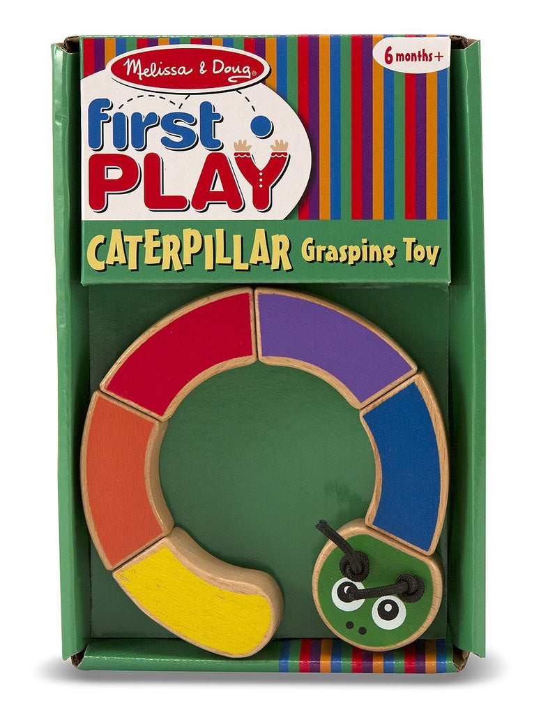 Melissa & Doug - Caterpillar Wooden Grasping Toy for Baby Ages 6 Months + [Home Decor]- Olde Church Emporium