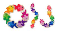 Melissa & Doug Friendly Fish Wooden Grasping Toy for Baby Ages 1 + - Olde Church Emporium