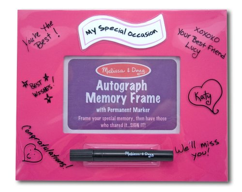 "Melissa & Doug Deluxe ""My Special Occassion"" Pink Autograph Memory Frame - Olde Church Emporium"