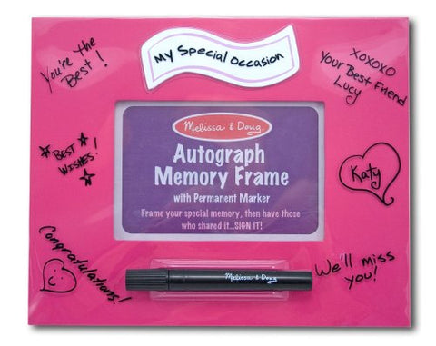 "Melissa & Doug Deluxe ""My Special Occassion"" Pink Autograph Memory Frame"