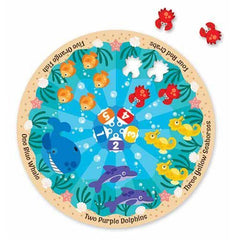 Melissa & Doug Sea Friends Fresh Start Circular Floor Puzzle - Olde Church Emporium