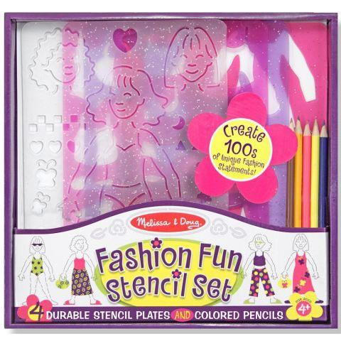 Melissa and Doug Fashion Fun Stencil Set 10 Pieces Ages 4+