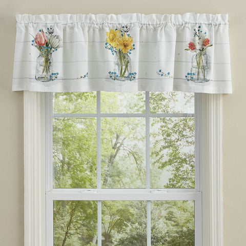 Park Designs Unlined Farmhouse Spring Valance - 60x14 Inches