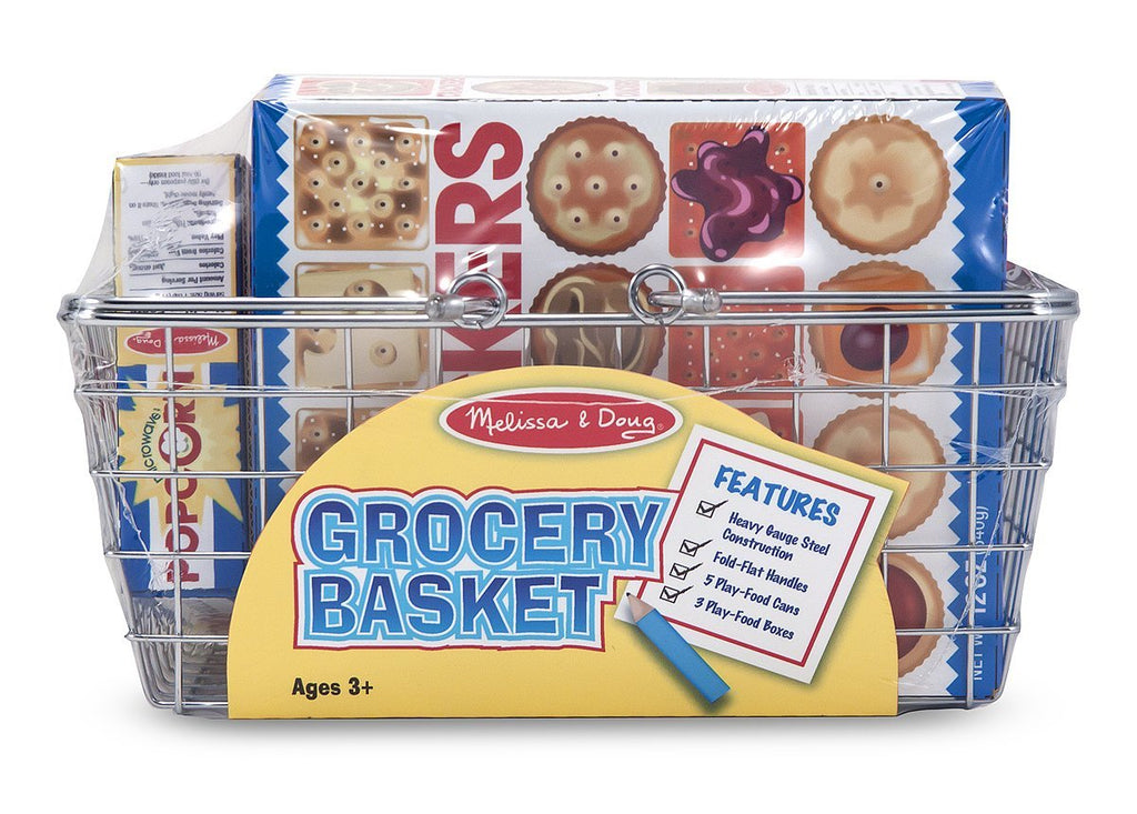Melissa & Doug - Grocery Basket Pretend Play Toy With Heavy Gauge Steel Construction - Olde Church Emporium