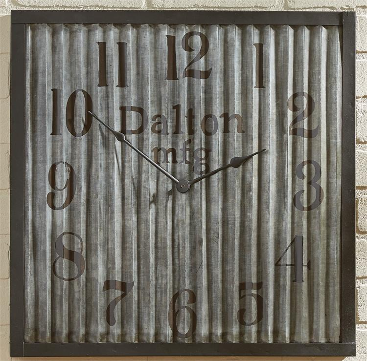 Park Designs - 21-463 Galvanized Wall Clock 20 Inches Square [Home Decor]- Olde Church Emporium