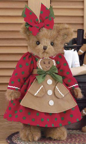Bearington - Ginger Cookiebaker Plush Christmas Bear 14 Inches and Retired - Olde Church Emporium