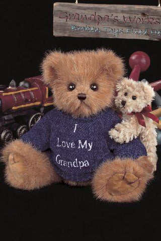 Bearington Bear Grandpa Hugs-A-Lot Plush 10 inch Bear Toy Collectible Retired