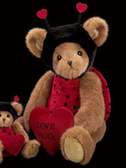Bearington - Love Bug Plush Bear Valentines Gift - 10 Inches and Retired 2 Sizes Available - Olde Church Emporium