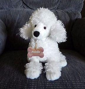 Gund French Poodle Puppy Dog 13065 White Plush Collectible Toy Tags and Labels