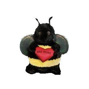 Bearington - Hearts A Buzzin bee Valentines Plush Bee 6 Inches and Retired - Olde Church Emporium