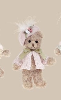 Bearington - Mattie Miniature Haberdashery Plush Bear 5 Inches and Retired - Olde Church Emporium