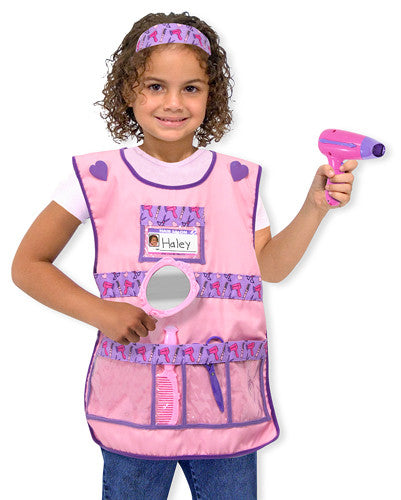 Melissa and Doug Hair Stylist Role Play Costume Set 3 to 6 years old [Home Decor]- Olde Church Emporium