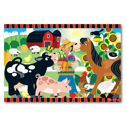 Melissa & Doug - 24 Piece Happy Harvest Farm Floor Puzzle  - 2 x 3 Feet [Home Decor]- Olde Church Emporium