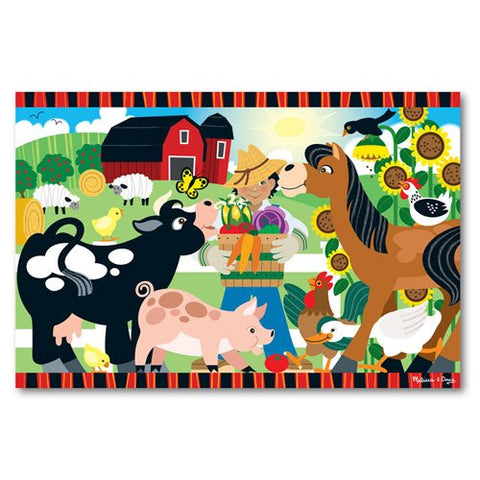 Melissa & Doug - 24 Piece Happy Harvest Farm Floor Puzzle  - 2 x 3 Feet