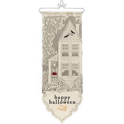 Heritage Lace - Happy Halloween Wall Decoration 12 x 33 Inches - Olde Church Emporium