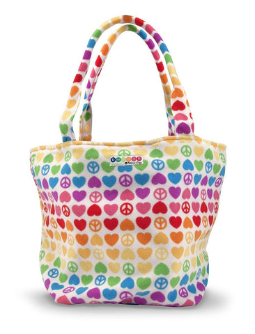 Melissa & Doug - Beeposh Collection Hope Rainbow Peace and Love Patterned Tote Bag (26 x 10 x10 inches)