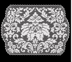 Heritage Damask Collection - Placemats, Doilies, Runners, Table Toppers - 3 Colors Made in USA