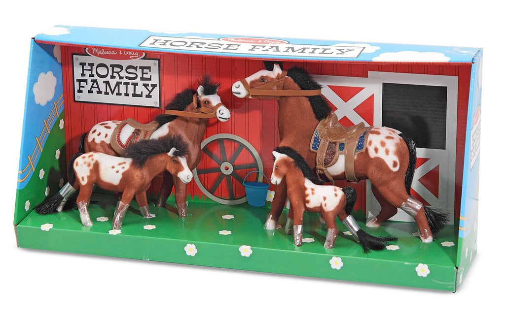 Melissa & Doug - Horse Family With 4 Collectible Horses - Olde Church Emporium