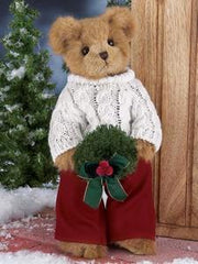 Bearington - Heath Hollybeary Christmas Holiday Plush Teddy Bear 14 Inches and Retired