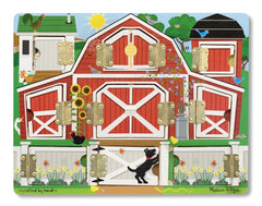 Melissa & Doug Hide and Seek Farm Wooden Activity Board With Barnyard Animal Magnets - Olde Church Emporium